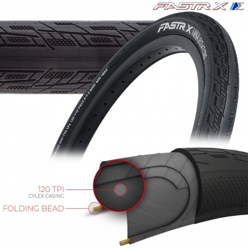 TIOGA FASTR-X S-SPEC TIRES - 120 TPI - FOLDING BEAD