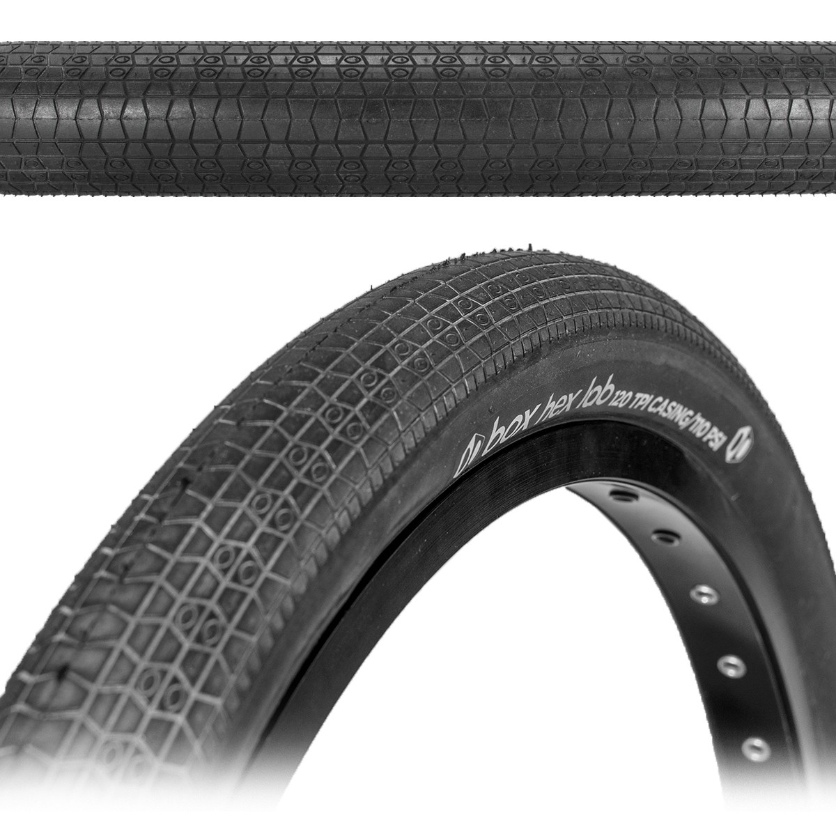 BOX HEX LAB RACE TIRES - 120 TPI - FOLDING BEAD