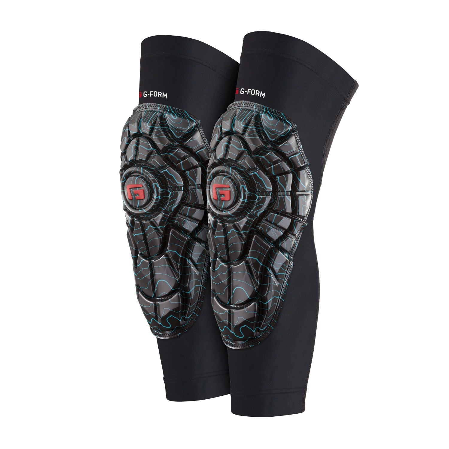 G-FORM ELITE KNEE GUARD TEAL TOPO / BLACK