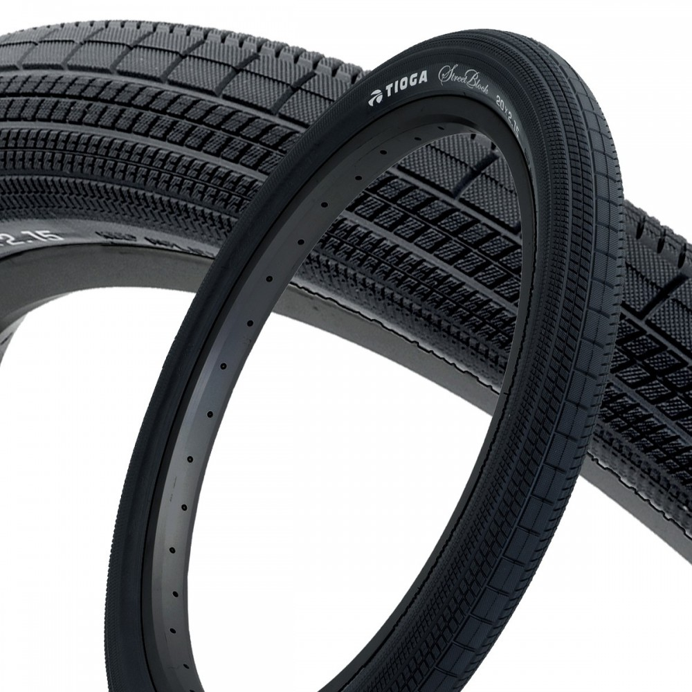 TIOGA STREETBLOCK TIRES - 110 TPI - WIRE BEAD