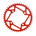 TANGENT 4 BOLT CHAINRING 104MM RED