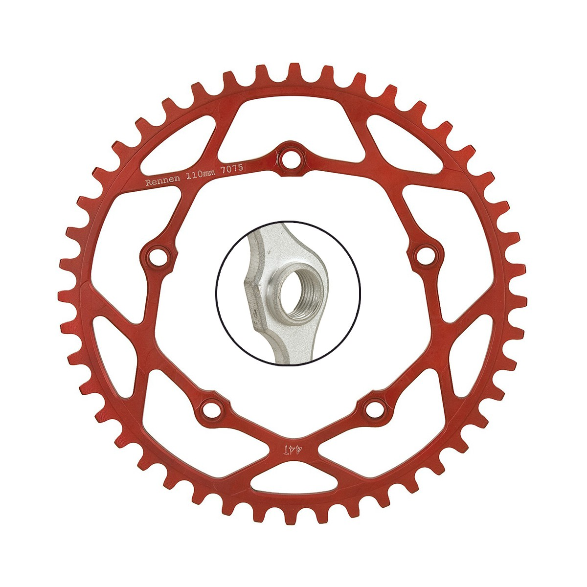 RENNEN PENTACLE CHAINRING 110MM THREADED