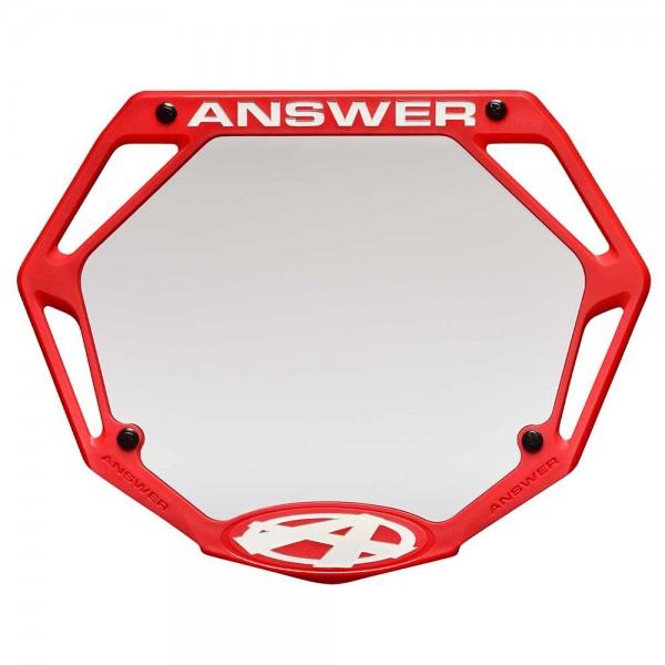 ANSWER BMX 3D NUMBER PLATE - PRO