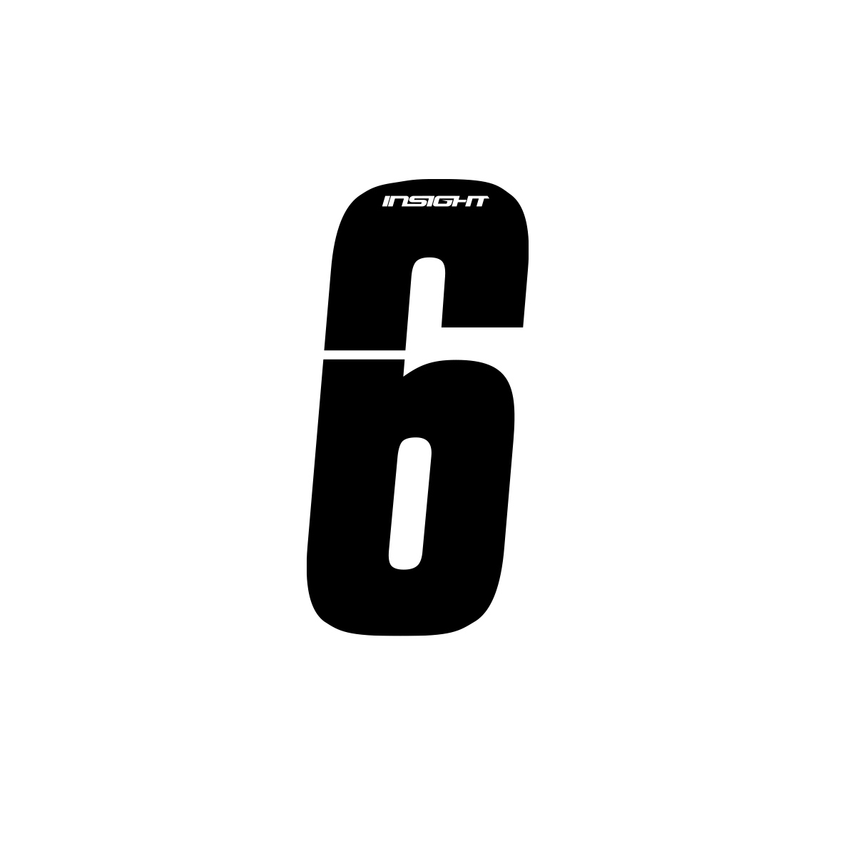 SIDE PLATE NUMBERS INSIGHT BLACK 3""