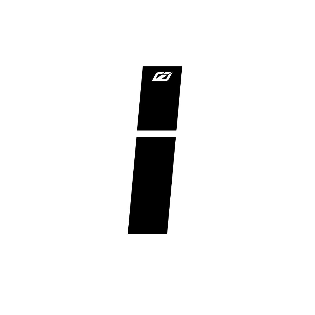 "INSIGHT LETTER STICKER BLACK 1.5"""