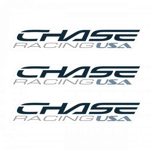 CHASE SMALL STICKER 110x18MM PACK X 3 DARK GREY