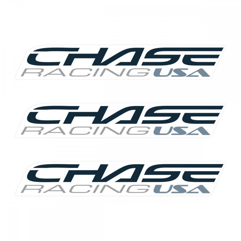 CHASE SMALL STICKER 110x18MM PACK X 3 DARK GREY