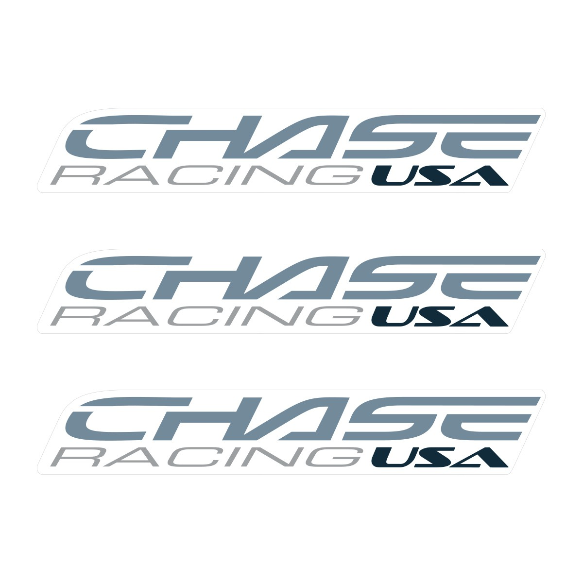 CHASE SMALL STICKER 110x18MM PACK X 3 LIGHT GREY