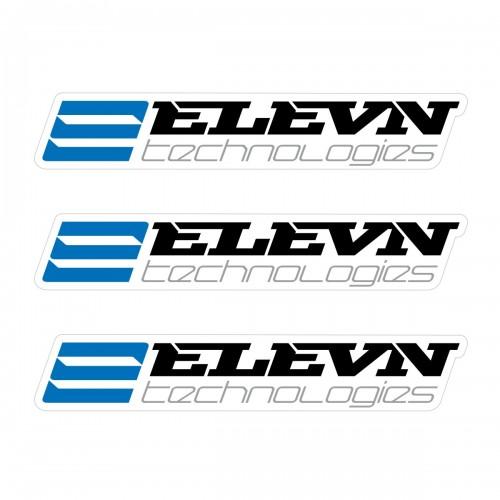 ELEVN SMALL STICKER 110x18MM PACK X 3 BLACK/BLUE