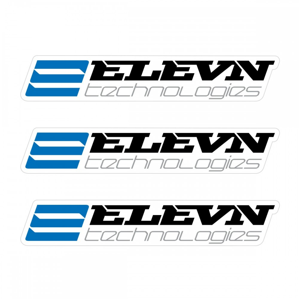 ELEVN SMALL STICKER 110x18MM PACK X 3 BLACK/BLUE