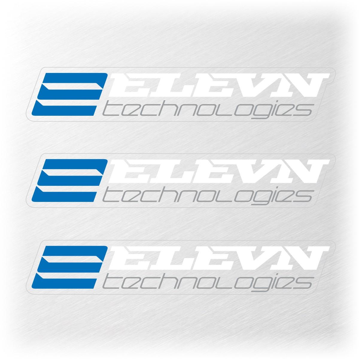 ELEVN SMALL STICKER 111x19MM PACK X 3 WHITE/BLUE