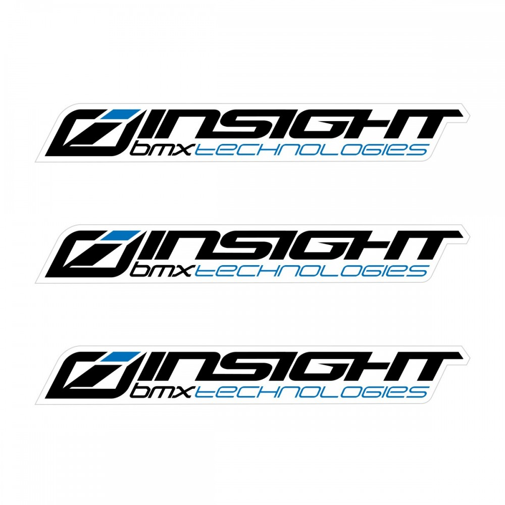 INSIGHT SMALL STICKER 111x15MM PACK X 3 BLACK/BLUE
