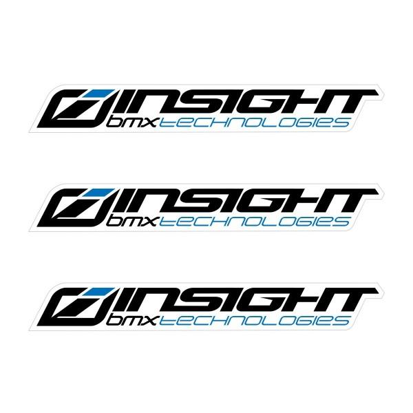 INSIGHT SMALL STICKER 111x15MM PACK X 3 BLACK/BLUE