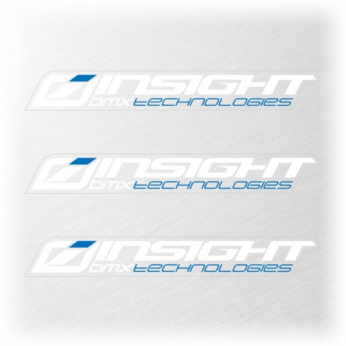 INSIGHT SMALL STICKER 111x15MM PACK X 3 WHITEK/BLUE