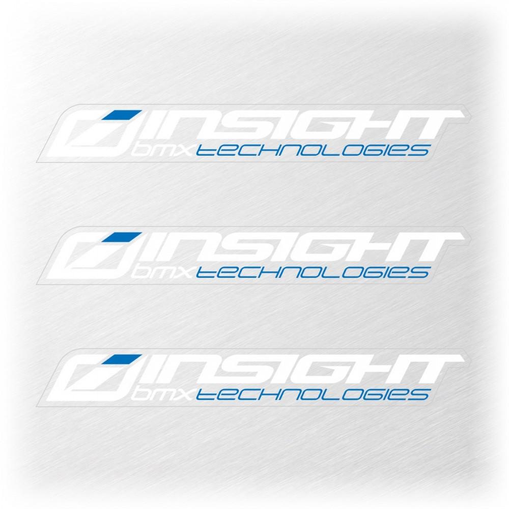 INSIGHT SMALL STICKER 111x15MM PACK X 3 WHITEK/BLUE