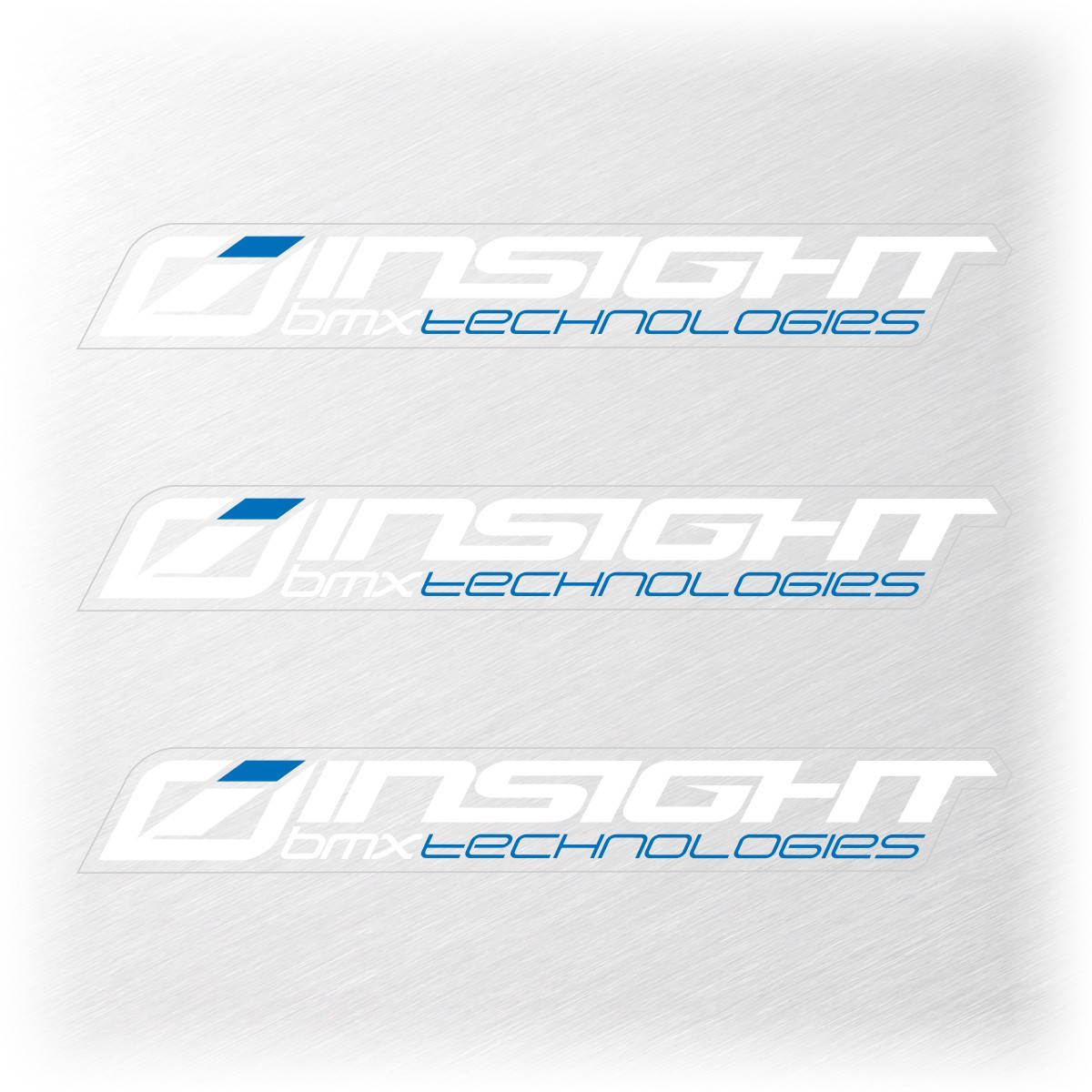 INSIGHT SMALL STICKER 111x15MM PACK X 3 WHITE/BLUE