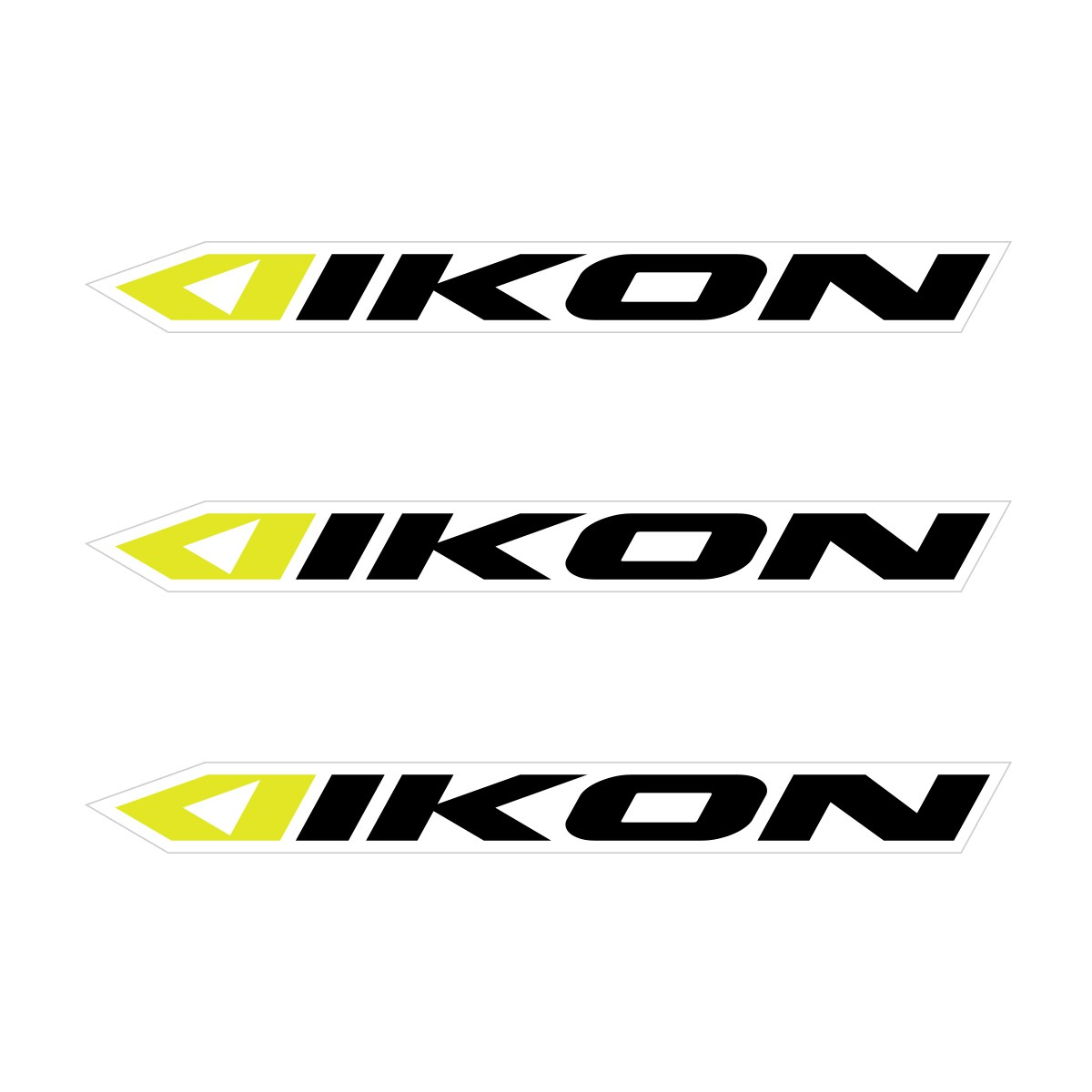 IKON SMALL STICKER 114x11MM PACK X 3 BLACK/NEON YELLOW