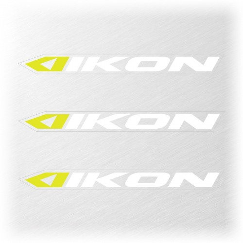 IKON SMALL STICKER 114x11MM PACK X 3 WHITE/NEON YELLOW