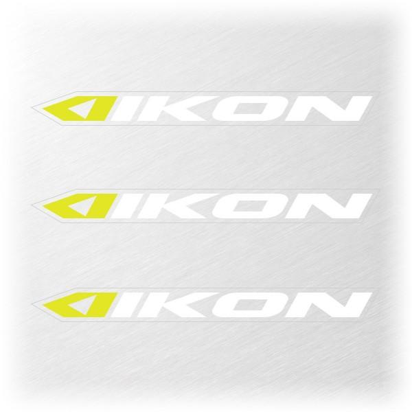 IKON SMALL STICKER 114x11MM PACK X 3 WHITE/NEON YELLOW