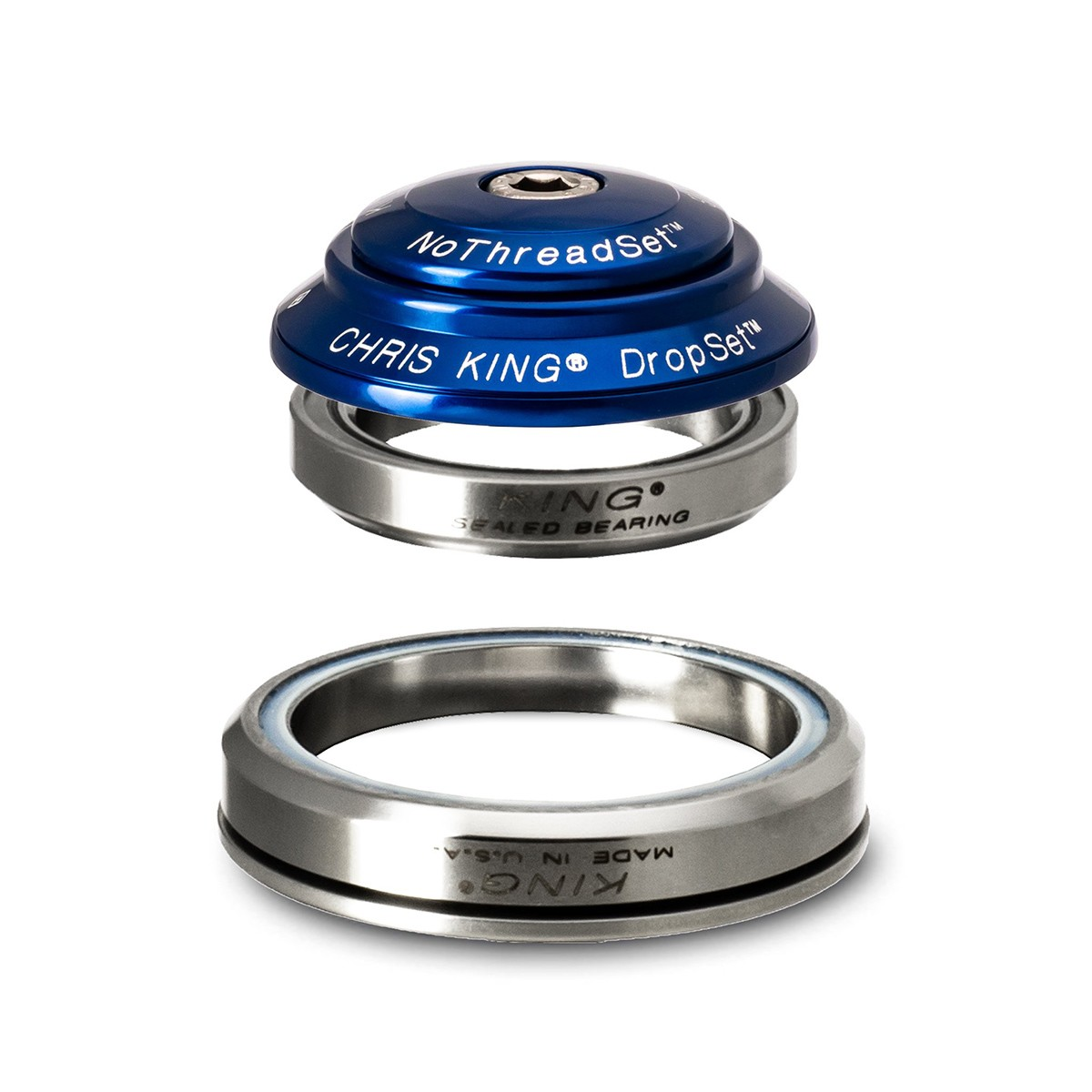 """CHRIS KING DROPSET 2 TAPERED HEADSETS 1- 1/8"""" - 1.5"""""""