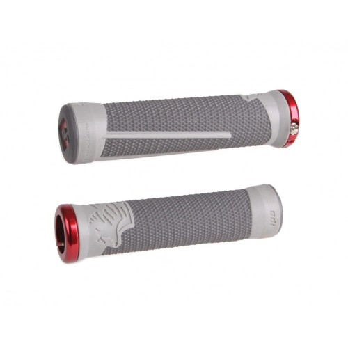 Red Grips Pair ODI Mountain Bike  AG-2 Signature 135mm
