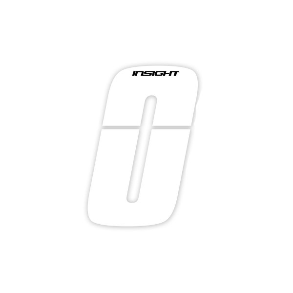 PLATE NUMBERS INSIGHT WHITE 7.5CM