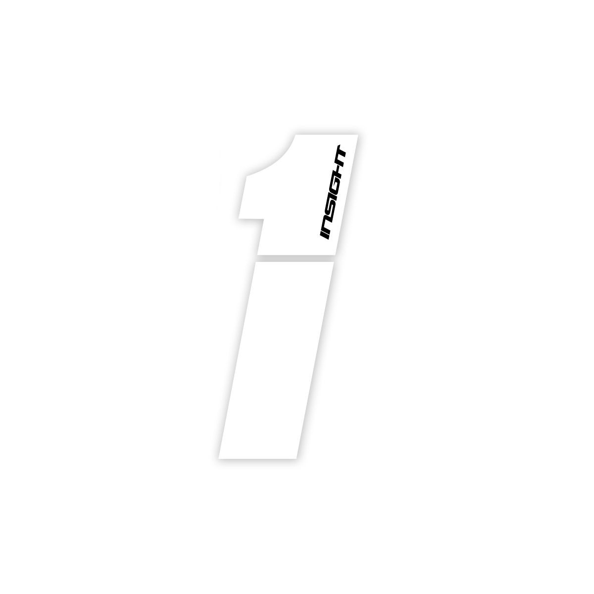 """PLATE NUMBERS INSIGHT WHITE 3"""""""