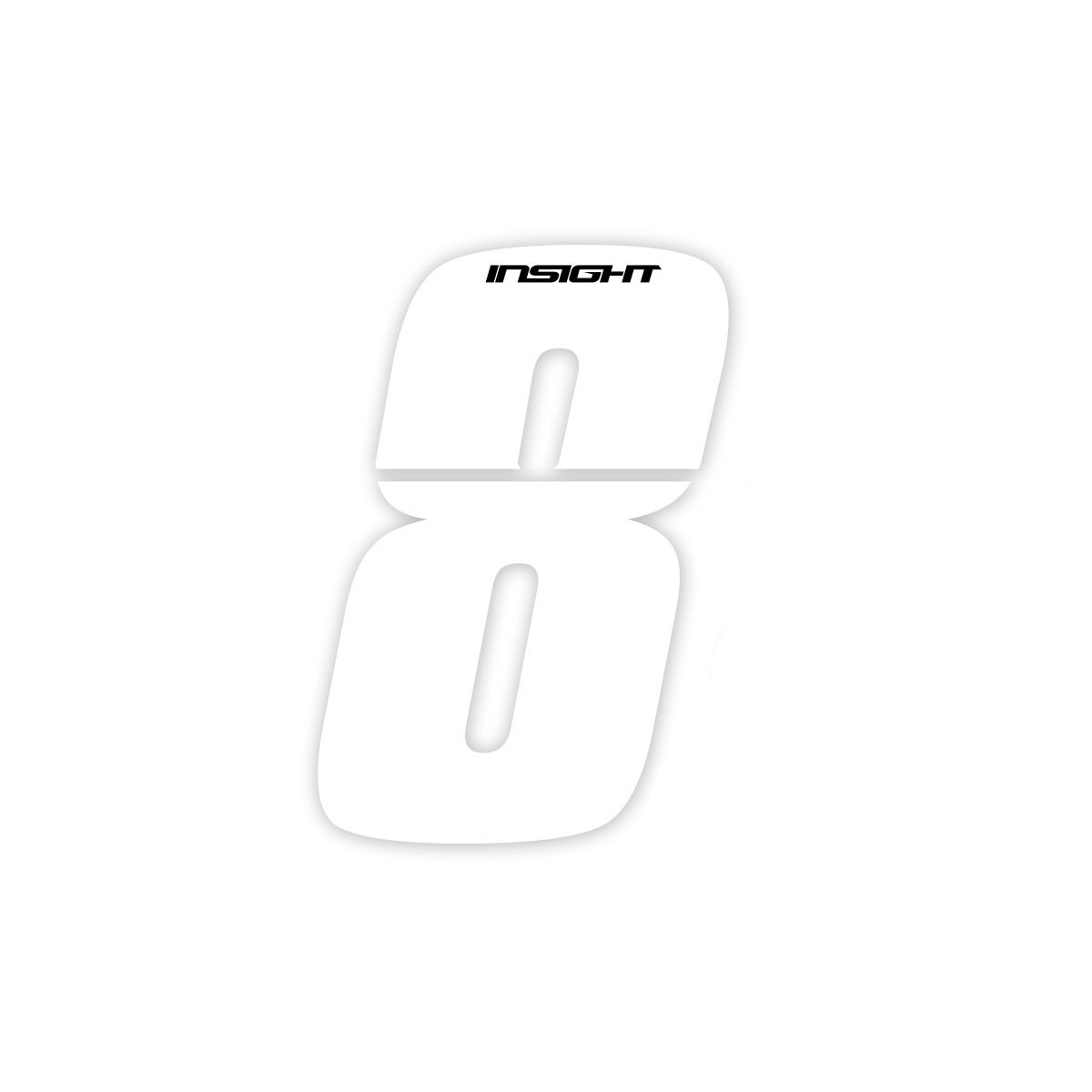 PLATE NUMBERS INSIGHT WHITE 3""
