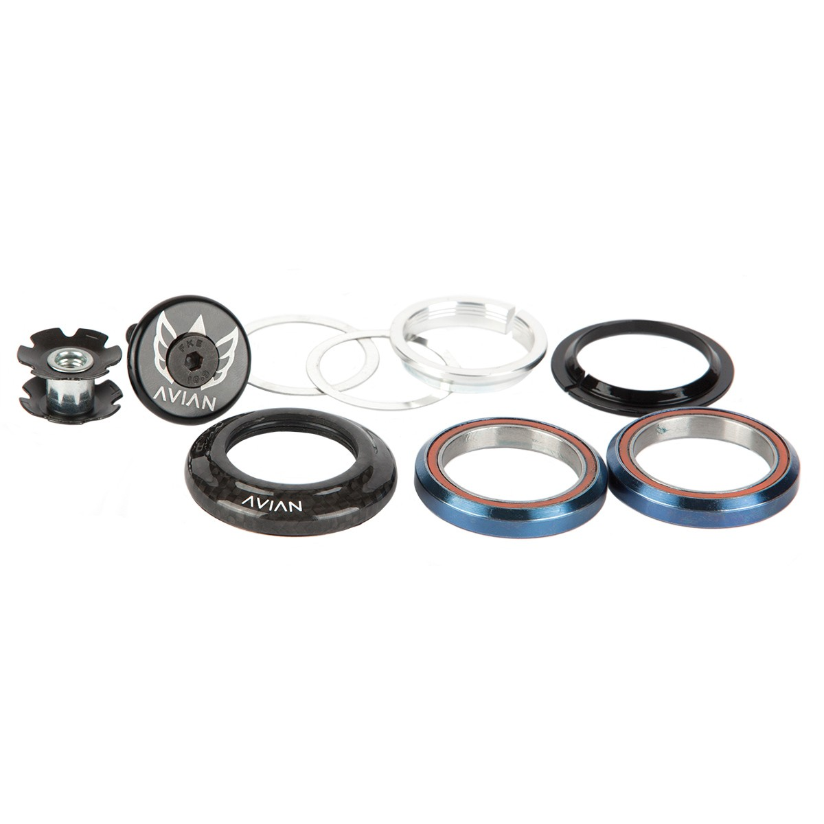 """AVIAN CARBON INTEGRATED HEADSET 1-1/8"""" TO 1"""" STEP DOWN"""