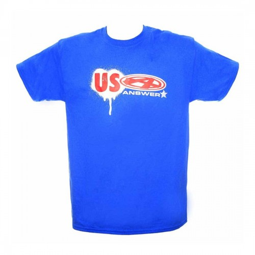 ANSWER USA T-SHIRT BLUE