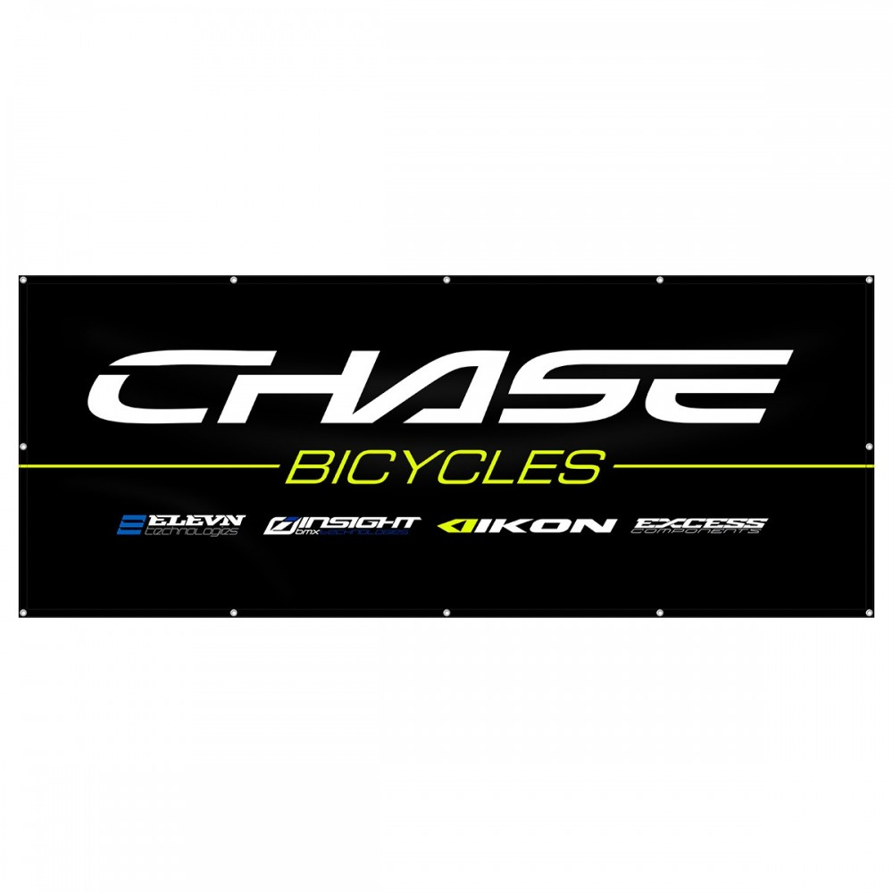 CHASE / BRANDS LOGO BANNER 8x3ft BLACK