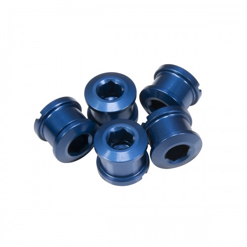 PACK 5 CHAINRING BOLTS INSIGHT 6.5X4MM ALU