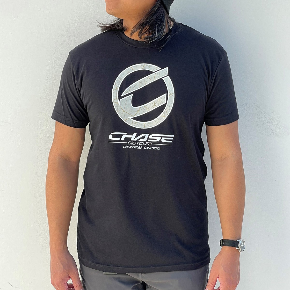 CHASE BICYCLES ROUND ICON BLACK/SAND T-SHIRT