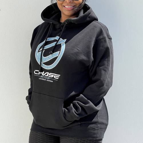 CHASE BICYCLES ROUND ICON BLACK/BLUE HOODIE