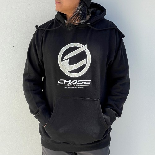 CHASE BICYCLES ROUND ICON BLACK/SAND HOODIE