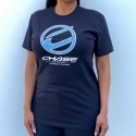 CHASE BICYCLES ROUND ICON BLACK/BLUE T-SHIRT