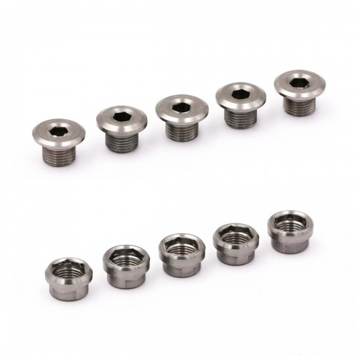 RENNEN INFINITY CHAINRING TITANIUM BOLTS 5PCS